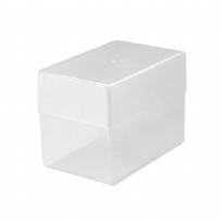 Plastic Business Card Box (250 Cards) - Clear / Transparent